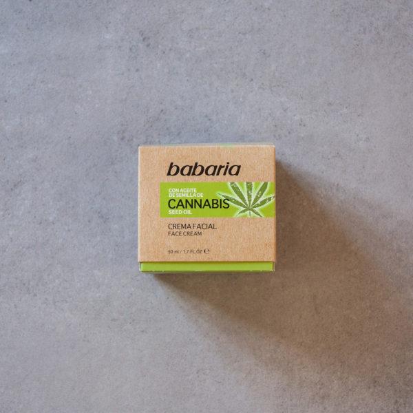 ansigtscreme med cannabisolie babaria composicion