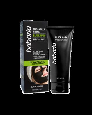 Babaria dybderensende ansigtsmaske med aktivt kul – 100 ml