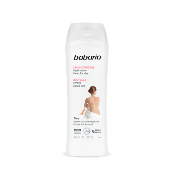body milk med aloe vera opstrammende vegansk babaria