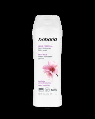 Babaria body milk med mandelolie intens nærende – 500 ml