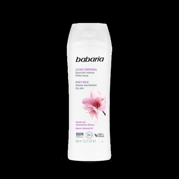 body milk med mandelolie vegansk babaria