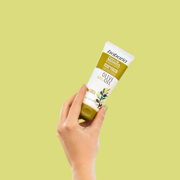 crema manos aceite oliva babaria composicion 2