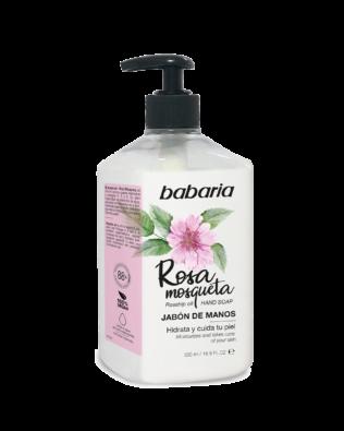 Babaria flydende håndsæbe med hybenrose duft – 500ml