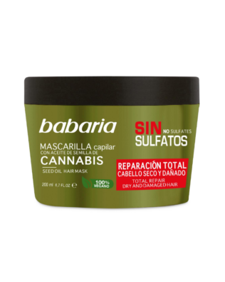 Babaria Reparationshårmaske med cannabisolie – 200 ml
