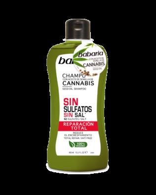 Shampo med cannabisolie til reparation af håret – 400 ml