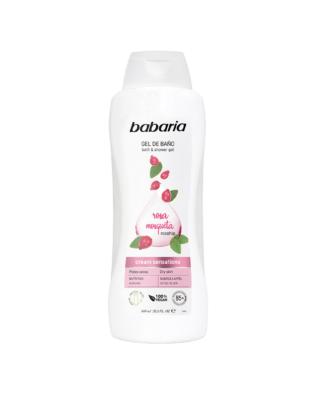 Babaria shower gel med hybenrose – 600 ml