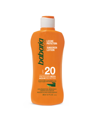 Babaria Sollotion med aloe vera SPF 20 – 200 ml