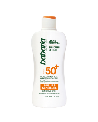 Babaria Sollotion til følsom hud SPF +50 – 200 ml
