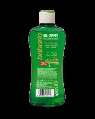 Babaria Shower gel og shampoo med aloe vera – 200 ml
