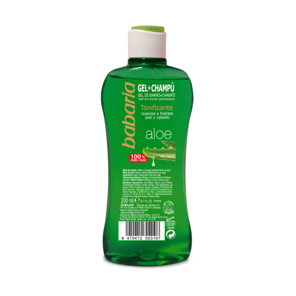 vegansk shower gel og shampoo babaria