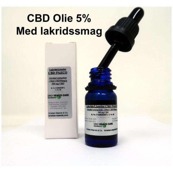 CBD olie med lakridssmag økologisk