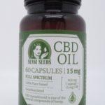 CBD olie kapsler 15 mg – 60 kapsler