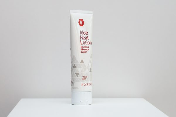 forever aloe heat lotion front2