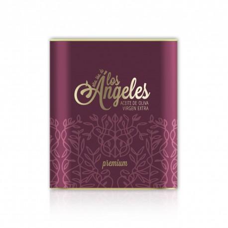 caja de 6 latas premium de 25 litros los angeles sin filtrar hojiblanca