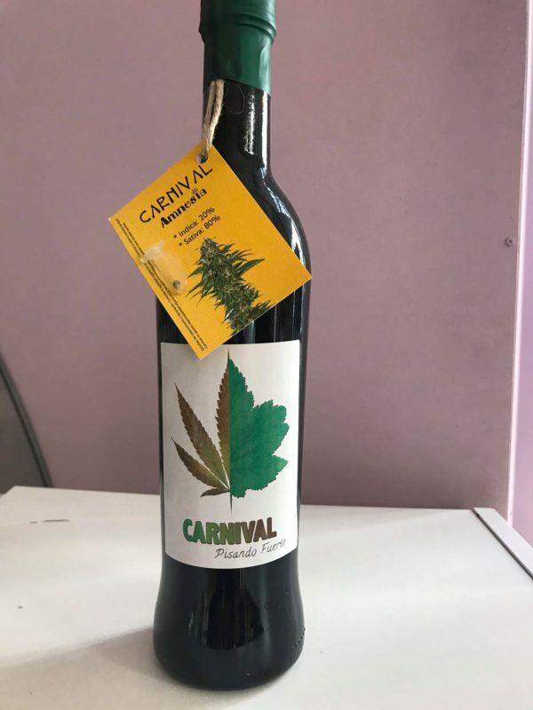 rødvin med cannabis