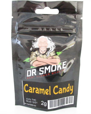 Dr Smoke Caramel Candy CBD topskud 2g